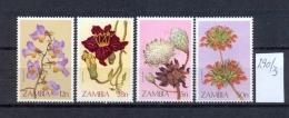 SAMBIA - 290/3  Blumen  Kpl.Ausg.postfr