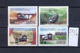 SAMBIA - 373/6  Tansania-Sambia-Eisenbahn  Kpl.Ausg.postfr