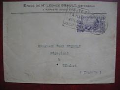 Lettre A En-Tete Oceanie Papeete Daguin Tahiti Pour Tikahau - Ozeanien (1892-1958)