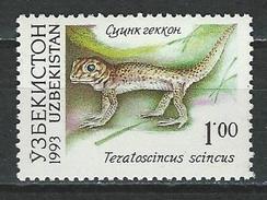 Usbekistan Mi 7 ** MNH Teratoscincus Scincus