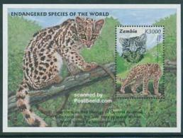 Zambia 1997 Margay Cat S/s, (Mint NH), Nature - Animals (others & Mixed) - Cat Family