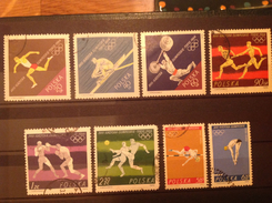 Poland 1964 Olympic Games  Used/CTO SG 1508-15 Sc 1257-64 Yv 1370-7