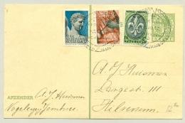 Nederland - 1937 - Jamboree Serie Met Stempel Wereldjamboree Vogelenzang Op Briefkaart Naar Hilversum