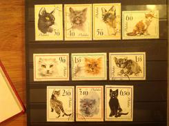 Poland 1964 Cats Used/CTO SG 1469-78 Sc 1216-25 Yv 1332-41