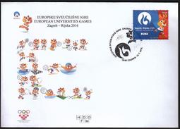 Croatia Zagreb 2016 / European Universities Games / Sport / Waterpolo, Basketball, Futsal, Rowing, Tennis
