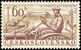 Czechoslovakia / Stamps (1960) 1114: Liberation Of Czechoslovakia 1945 (Tractor Driver; Excavator) Paint. Viktor Polasek