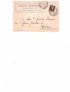 CARTOLINA DESENZANO(BRESCIA) PUBBLICITA'  EGIDIO RAMANZINI - PRODUTTORE VINI - PER MILANO - Italie