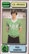 Panini Football 83 Voetbal Belgie Belgique 1983 Sticker Autocollant Cercle Brugge KSV Nr. 110 Paul Sanders - Sports