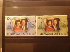 Turks & Caicos 1972 Silver Wedding MNH SG 372-3