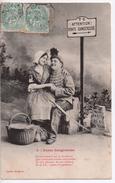 CPA.Humour.1906. Pente Dangereuse.Couple Enlacé.petit Texte. - Humour