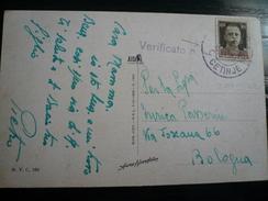 Cettigne Occupazione Montenegro- 2.4.1941 Censurata Per Bologna Bella Cartolina - Montenegro