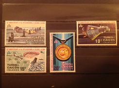 Turks & Caicos 1972 10th Anniversary Of Glenn's Splashdown MNH SG 361-4