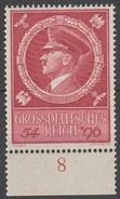 Reich 1944 N° 804 NMH 55em Anniversaire D'Hitler Avec Bord De Feuille (D26) - Nuevos