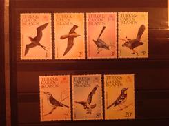 Turks & Caicos 1973 Birds To 20c MNH