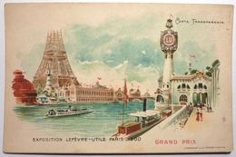 EPOSITION LEFEVRE-UTILE PARIS 1900 -CARTE TRANSPARENTE - Werbepostkarten