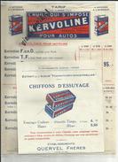 Publicité Papier - Affichette D'intérieur - Huile Moteur - Voiture- Autos - Quervel Frères Aubervilliers   - Réf 08 - - Reclame