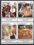 Dominica MNH Queen Elizabeth Coronation Anniversary Set