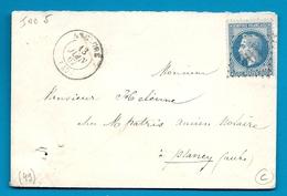 Marne - Anglure Pour Plancy (Aube). CàD Type 15 + GC - Marcophilie (Lettres)