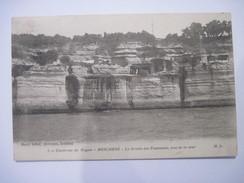 CPA MESCHERS LA GROTTE DES FONTAINES Vue De La Mer   1915 T.B.E.