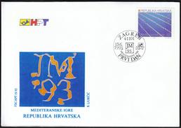 Croatia 1993 / Mediterranean Games / Sport / FDC / Swimming