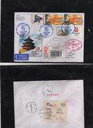 054-SLOVAKIA-  OLYMPIA GAMES PEKING 2008 -Register Special  Cover List -RETUR