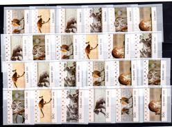 Australien Australia  Atm Frama Cps Vignettes Vending Labels 4  Diferent Series  Sonder Salisbury ** Mint