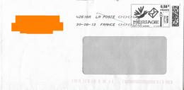 """Montimbrenligne """"oiseau Enveloppe Dans Le Bec"""" Lettre Verte 0.58 € Noir Et Blanc + Toshiba 42618A Avec Signes <><><"""