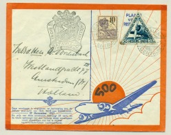 Nederlands Indië - 1937 - 500e Vlucht Van Batavia Naar Amsterdam / Nederland