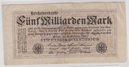 M 405) Ro 120 E Reichsbanknote 20.10.1923 Fünf Milliarden Mark - [ 3] 1918-1933 : Weimar Republic