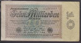 M 406) Ro 113 Reichsbanknote 15.9.1923 Zehn Milliarden Mark - 10 Milliarden Mark