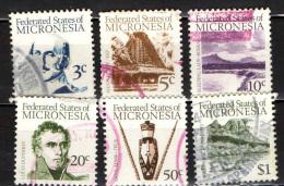 MICRONESIA - 1984 - Fyedor Lutke - Men's House, Yap - Sleeping Lady, Kosrae - Louis Duperre - Devil Mask, Truk - U