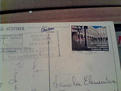 BOLZANO 2000 TARGHETTA FIERA MESSE TEMPO LIBERO Bollo 0,41 150° FONDAZIONE COLLEGIO S GIUSEPPE ROMA GA12622 - 1991-00: Poststempel