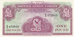 British Armed Forces Special Voucher 1 Pound - Forze Armate Britanniche & Docuementi Speciali