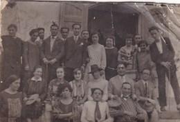 NICOLOSI CATANIA FOTOGRAFIA DELLA FAMIGLIA PATRUNO INVIATA ALLA FAMIGLIA MISTRETTA - ANNO 1927 CON DIDASCALIA SUL RETRO - Persone Identificate