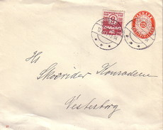 DANEMARK - ENVELOPPE ENTIER POSTALE AVEC COMPLEMENT DU 12-6-1941. - Covers & Documents