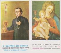Doppio Santino - S. Gaspare Del Bufalo E La Regina Del Prez.mo Sangue (Fronte E Retro) - Santini