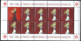 Croatia 2012 / 100th Anniversary Of The Croatian Chess Federation / Sport / Mint Sheet