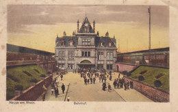 Ph-CPA Allemagne Neuss Am Rhein (Rhénanie Du Nord Westphalie) Bahnhof - Neuss