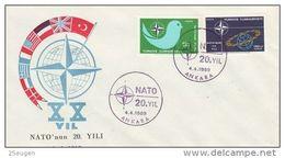 TURKEY 1969 NATO FDC