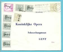 """853 Op Brief Stempel GENT, Getaxeerd (taxe) Met Zegels 853+1027+1067 Voorzien Met De """"T""""stempel (strafport)"""