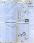 LETTRE De 1873 PLIEE OBLITEREE Avec CERES 25c BLEU      (U182) - Manuscrits