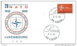 LUXEMBOURG  1969  NATO  FDC