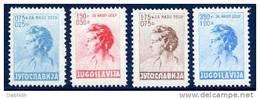 YUGOSLAVIA 1936 Child Welfare Set MNH / **.  Michel 322-25 - 1931-1941 Regno Di Jugoslavia