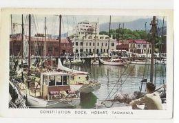 AUSTRALIA - TASMANIA - CONSTITUTION DOCK HOBART - PENTOTHAL POSTCARD 1950s (853) - Unclassified