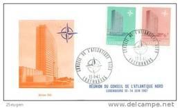 LUXEMBOURG  1967  NATO  FDC