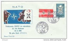 TURKEY 1962 NATO  FDC