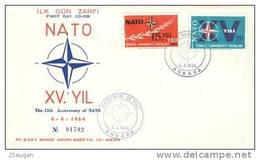 TURKEY 1964 NATO  FDC