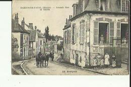 Barbonne-Fayel  51    La Grande-Rue Animée Attelage Et La Mairie - Andere Gemeenten