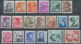 Italie 1960, N° 826/44, Michel Ange, Série Complète, */mh Légère