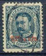 Luxembourg 1906-15, N° 86, Guillaume IV, Surchargés 62 1/2cts, Surcharge Penchée, Signé